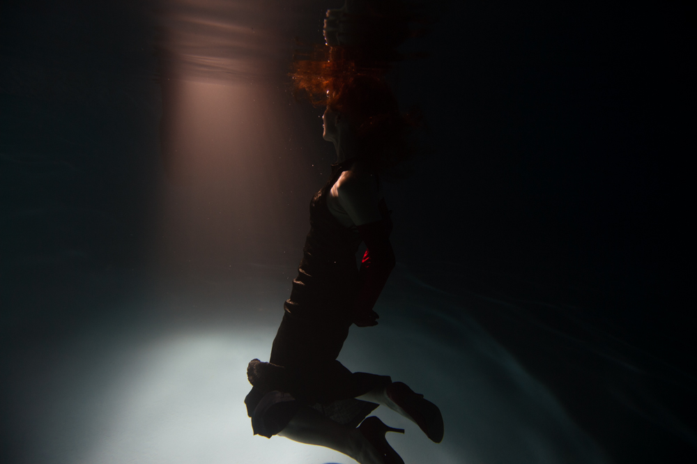 Model: Christine Dengate, underwater
