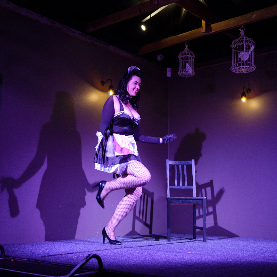 Pepper Grinde - photo from Sass and Tease at the Loft - June