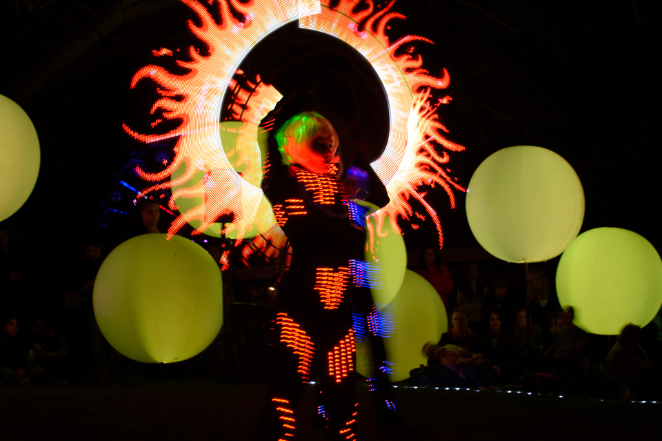 Performers: Lumiere. Photographer: Brett Sargeant, D-eye Photography